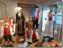 Display of Hardanger bunad in the lobby