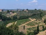 Beautiful Tuscan landscape when driving in Chianti