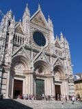 The facade of the duomo in Siena