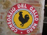 You know you are in Chianti when you see the Gallo Nero