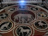 The beautiful floor in the duomo in Siena