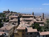 Rooftops of Montalcino seen from the fortress