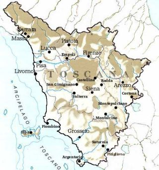 Map of Tuscany